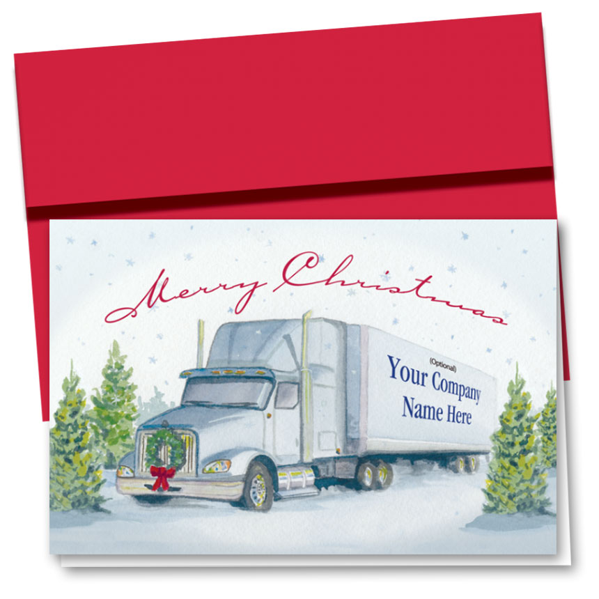 Trucking Christmas Cards - Serene Greetings | Trucking Office Supplies