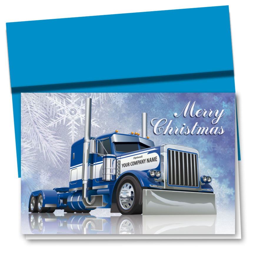 Trucking Christmas Cards - Cobalt Christmas | Trucking Office Supplies
