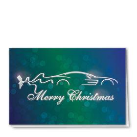 Personalized Premium Foil Automotive Holiday Cards - Spray Gun Artist