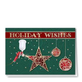Personalized Premium Foil Automotive Holiday Cards - Vivid Star