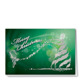 Personalized Premium Foil Automotive Holiday Cards - Spray Gun Finesse