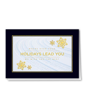 Personalized Premium Foil Automotive Holiday Cards - Holiday Path