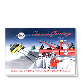 Personalized Deluxe Full-Color Automotive Holiday Cards - You Don't Say