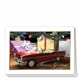 Personalized Deluxe Full-Color Automotive Holiday Cards - Cherished Gift