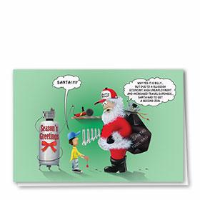 Personalized Deluxe Full-Color Automotive Holiday Cards - Sluggish Economy