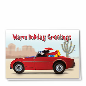 Personalized Deluxe Full-Color Automotive Holiday Cards - Warm Holiday