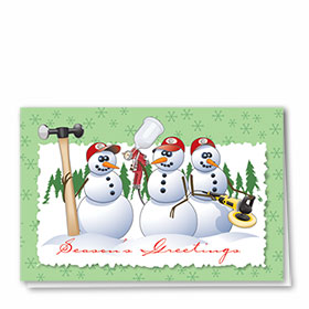 Personalized Deluxe Full-Color Automotive Holiday Cards - Repair Ready