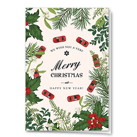 Personalized Deluxe Full-Color Automotive Holiday Cards - Around the Holidays