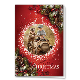 Personalized Deluxe Full Color Holiday Card - Holiday Nostalgia