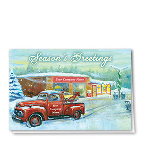 Double Personalized Full Color Holiday Card-Reindeer Rescue