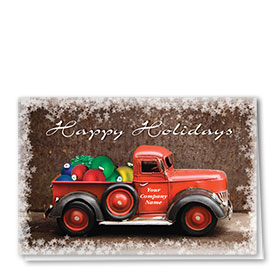 Double Personalized Full Color Holiday Card-Happy Haulin'