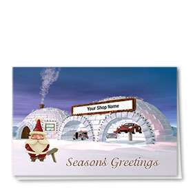 Double Personalized Full Color Holiday Card-Polar Automotive