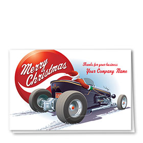 Double Personalized Full Color Holiday Card-Holiday Hot Rod