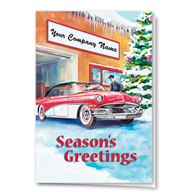 Double Personalized Full Color Holiday Card-Holiday Detail
