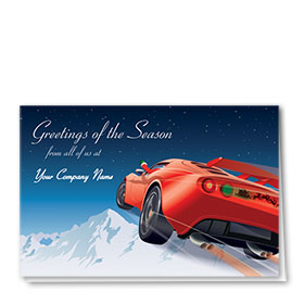 Double Personalized Full Color Holiday Card-Holiday Take-Off