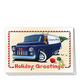 Double Personalized Full Color Holiday Card-Holiday Express