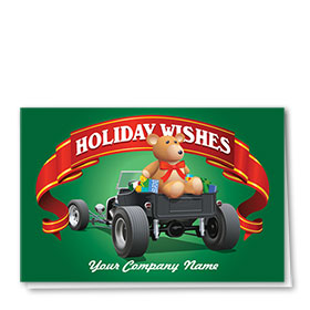 Double Personalized Full Color Holiday Card-Model T Truck