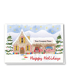 Double Personalized Full Color Holiday Card-Sweet Service