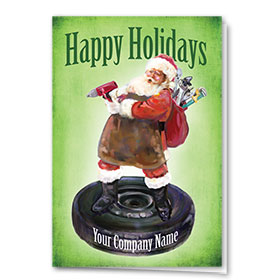 Double Personalized Full Color Holiday Card-St. Nick Service