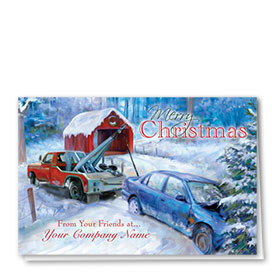 Double Personalized Full Color Holiday Card-Christmas Rescue