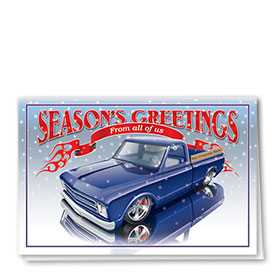 Double Personalized Full Color Holiday Card-Seasons Reflections