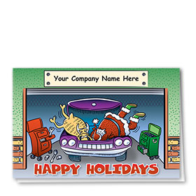 Double Personalized Full Color Holiday Card-Dynamic Duo