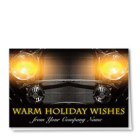 Double Personalized Full Color Holiday Card-Remarkable Glow