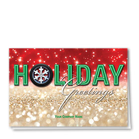 Double Personalized Full-Color Automotive Holiday Cards - Illustrious Tire