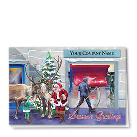 Double Personalized Full-Color Automotive Holiday Cards - Holiday Restoration