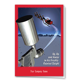 Double Personalized Full-Color Automotive Holiday Cards - Detailed Sleigh