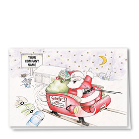 Double Personalized Full-Color Automotive Holiday Cards - Festive Repair