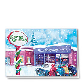 Double Personalized Full-Color Automotive Holiday Cards - Holiday Help