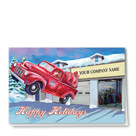 Double Personalized Full-Color Automotive Holiday Cards - Spectacular Departure