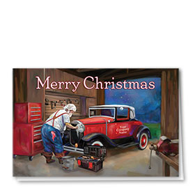 Double Personalized Full-Color Automotive Holiday Cards - Vigilant Repair