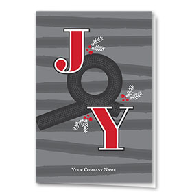 Double Personalized Full-Color Automotive Holiday Cards - Joyful Roundabout