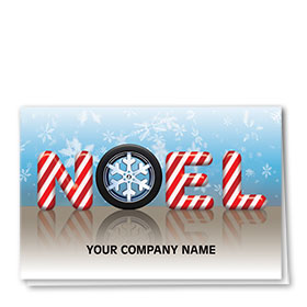 Double Personalized Full-Color Automotive Holiday Cards - Sweetened Noel