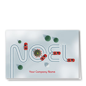Double Personalized Full-Color Automotive Holiday Cards - Holiday Course