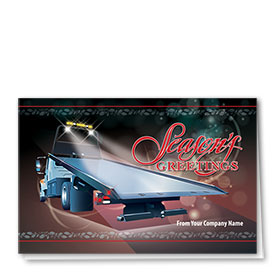 Double Personalized Full Color Holiday Card-Sparkling Season