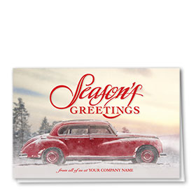 Double Personalized Full-Color Automotive Holiday Cards - Vintage Cruise