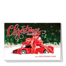 Double Personalized Full-Color Automotive Holiday Cards - Fastlane Gift