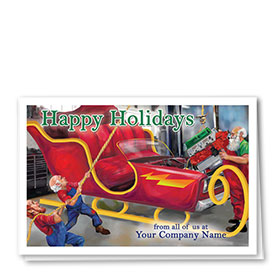 Double Personalized Full-Color Automotive Holiday Cards - Holiday Overhaul