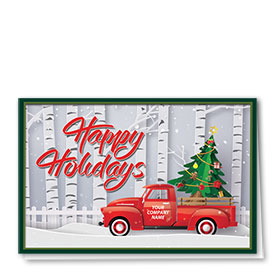Double Personalized Full Color Holiday Card- Holiday Paper