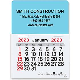 Rectangle -Self-Stick Die-Cut Construction Calendars