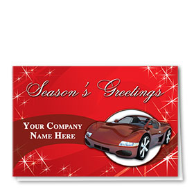 Double Personalized Full-Color Automotive Holiday Cards - Season of Sparkles