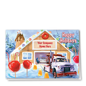 Double Personalized Full Color Holiday Card-Gumdrop Automotive