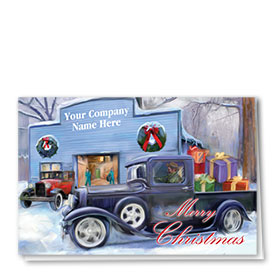 Double Personalized Full Color Holiday Card-Holiday Homeward