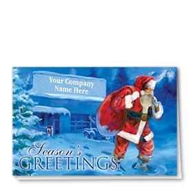 Double Personalized Full-Color Automotive Holiday Cards - Shush Santa