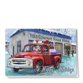 Double Personalized Full-Color Automotive Holiday Cards - Homebound Delivery
