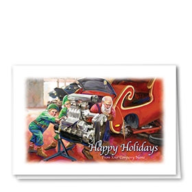 Double Personalized Full-Color Automotive Holiday Cards - Season Preparation