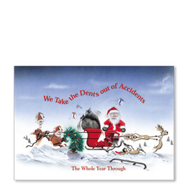 Personalized Full-Color Automotive Holiday Postcards - Dents Out